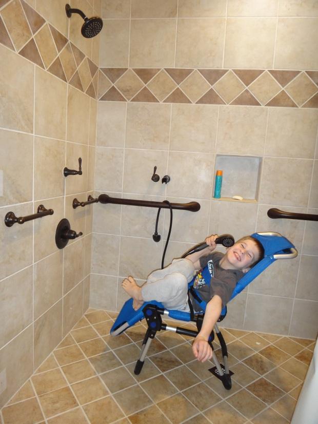 caedmon in shower