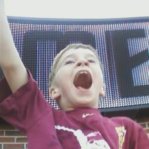 This wasn't at the concert, but it does give you a taste of his enthusiasm.